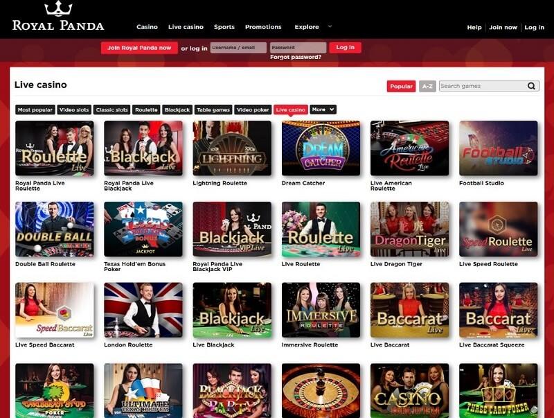 Royal-Panda-casino-lobby