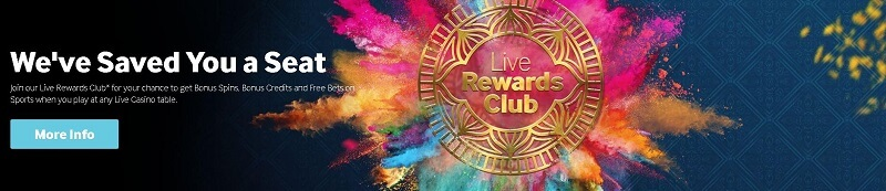 Betway live rewards club