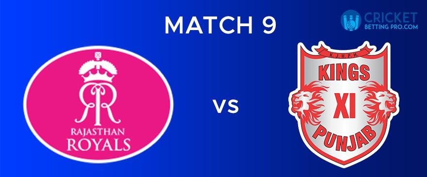 RR vs KXIP Match Report 9