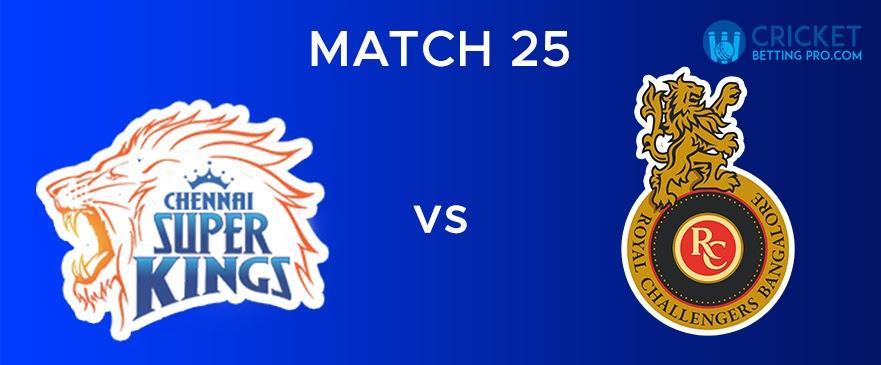 CSK vs RCB Match Report 25
