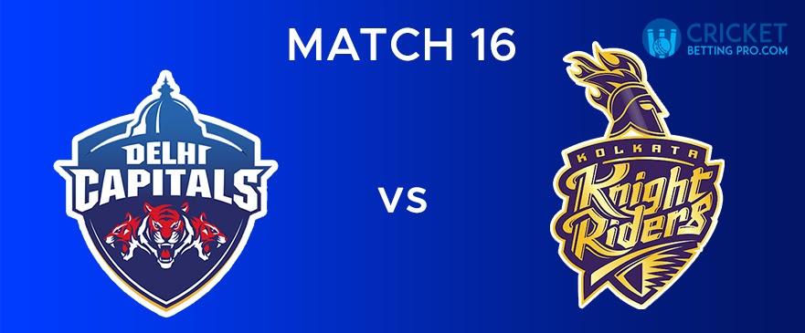 DC vs KKR Match Report 16
