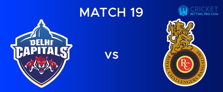 DC vs RCB Match Report 19