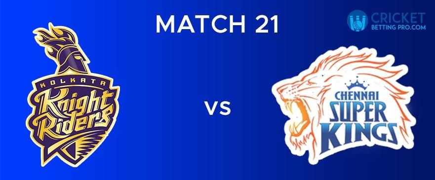 KKR vs CSK Match Report 21