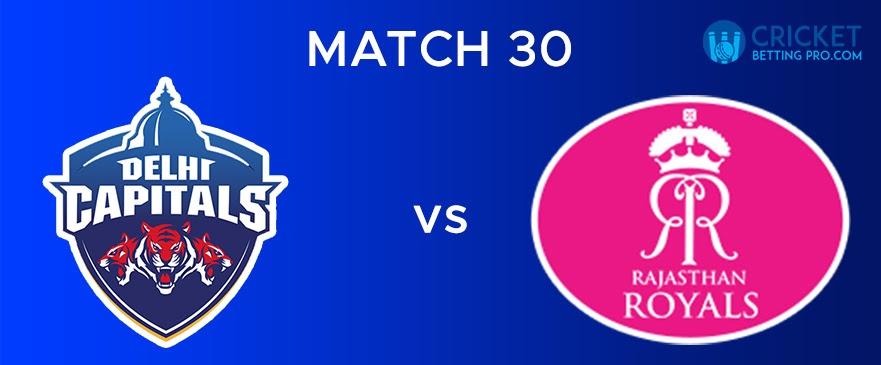DC vs RR  Match Report 30