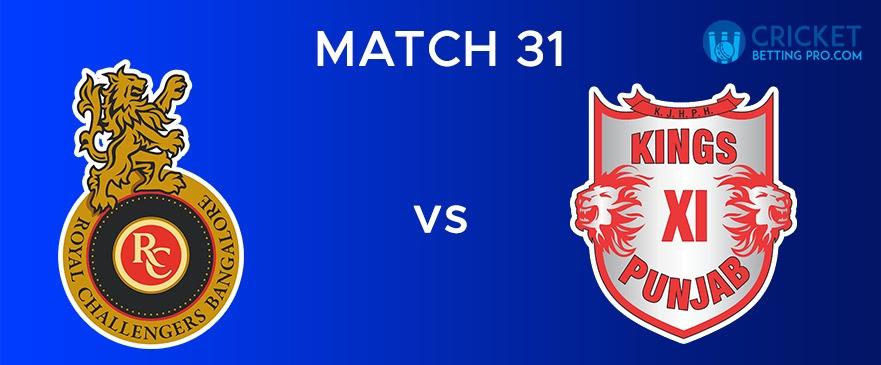 RCB vs KXIP  Match Report 31
