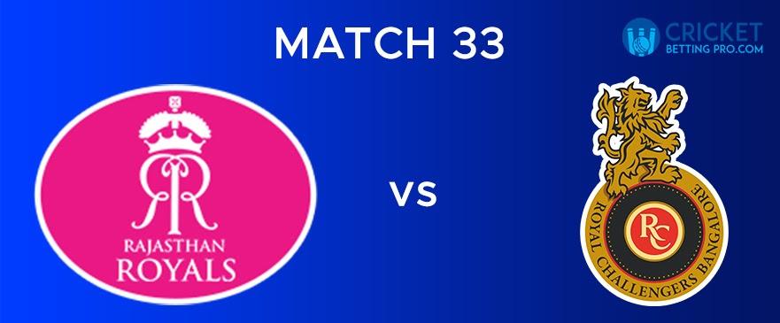 RR vs RCB  Match Report 33