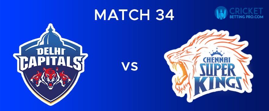 DC vs CSK  Match Report 34