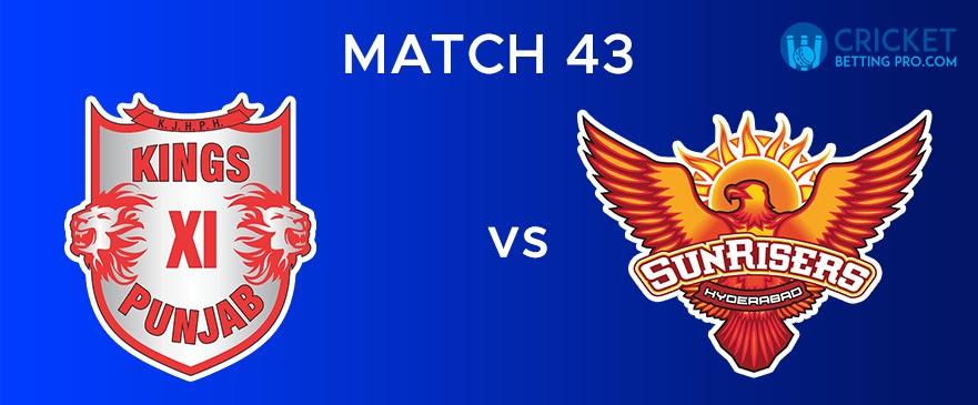 KXIP vs SRH  Match Report 43