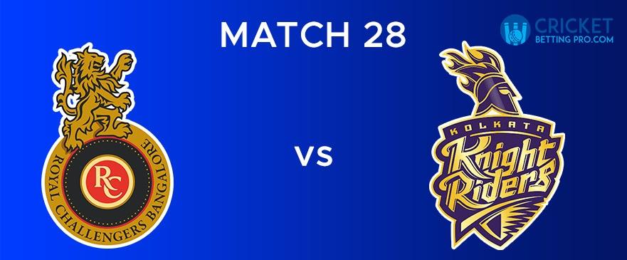 RCB vs KKR Match Report 28