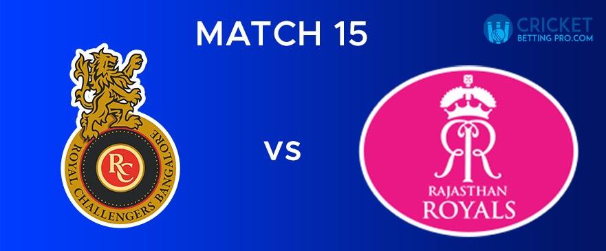 RCB vs RR Match Report 15