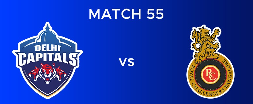 DC vs RCB Match Report 55