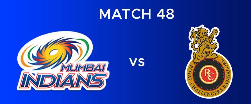 MI vs RCB  Match Report 48