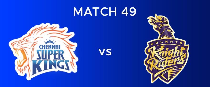 CSK vs KKR  Match Report 49