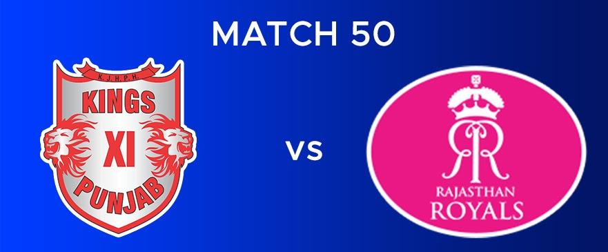 KXIP vs RR Match Report 50