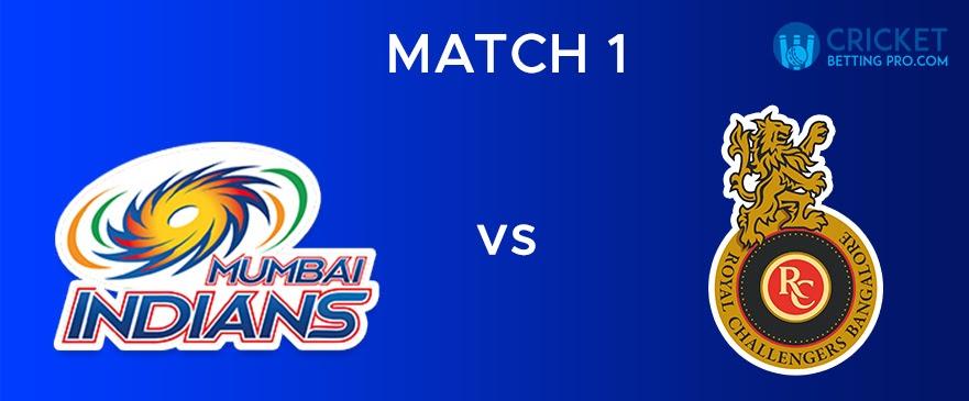 MI Vs RCB – Match Report 1