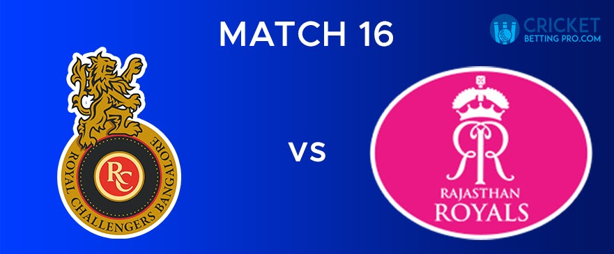 RR vs RCB – Match Report 16