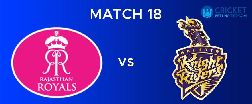 RR vs KKR – Match Report 18