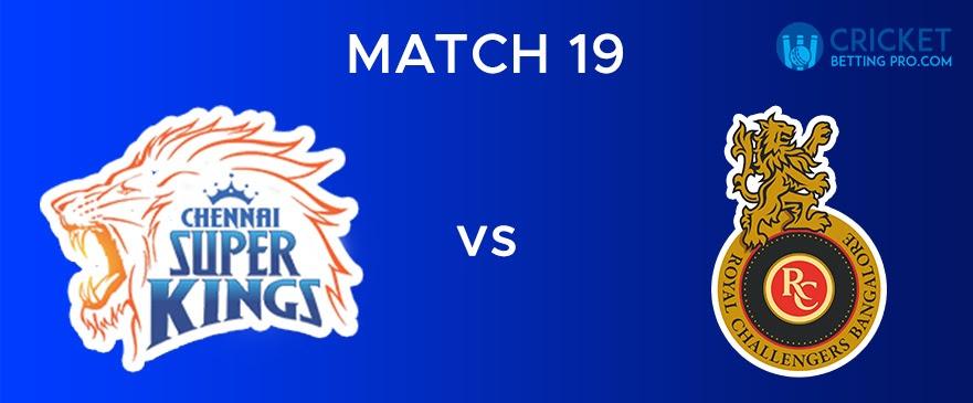 CSK vs RCB – Match Report 19