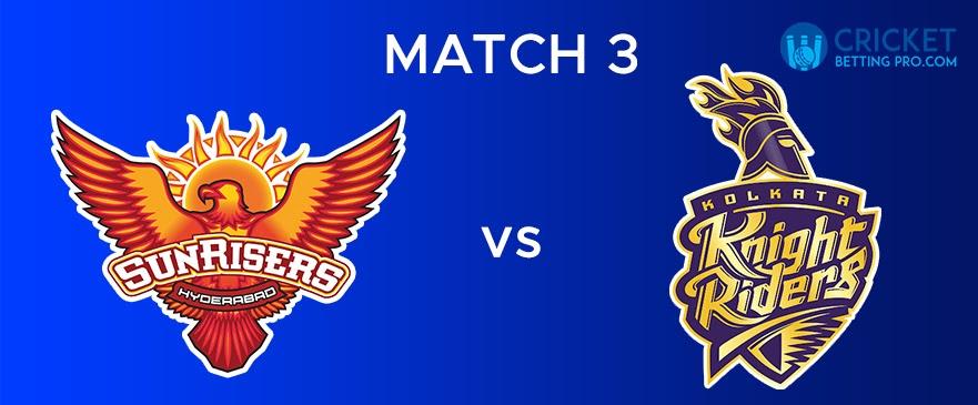 SRH VS KKR – Match Report 3