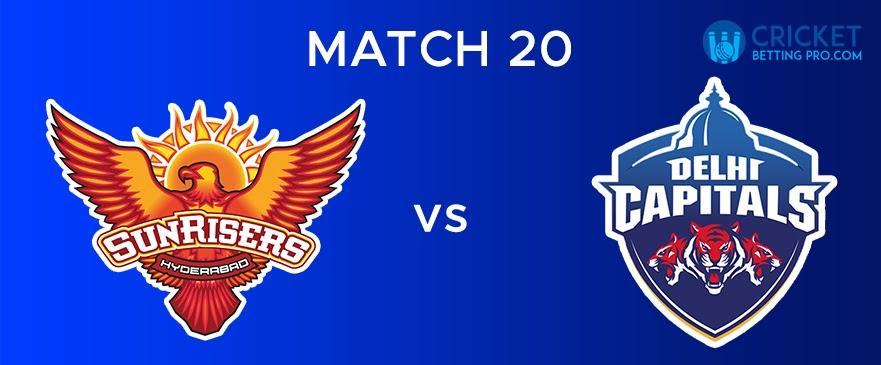 DC vs SRH – Match Report 20