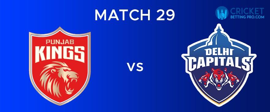PBKS vs DC – Match Report 29