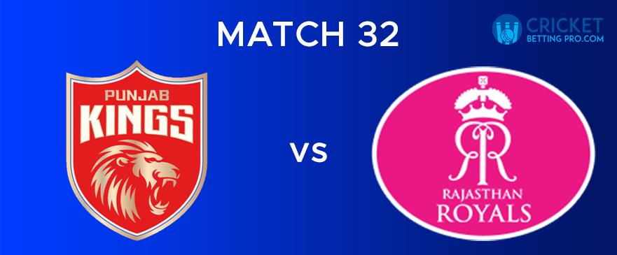 PBKS vs RR – Match Report 32