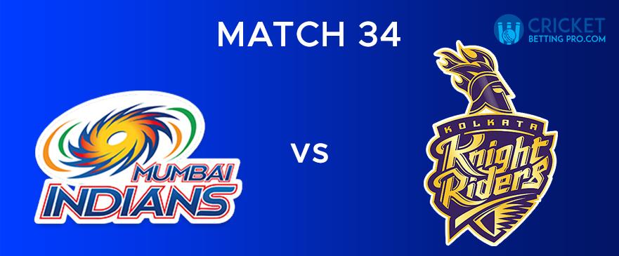 MI vs KKR – Match Report 34