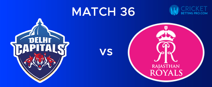 DC Vs RR – Match Report 36